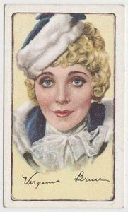 Virginia Bruce 1935 GALLAHER Signed Portraits of Famous Stars Tobacco Card #35