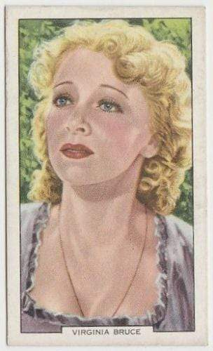 Virginia Bruce 1939 Gallaher My Favourite Part Movie Star Tobacco Card #33