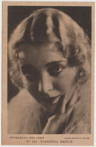 Virginia Bruce 1934 Salem Goldfilm Movie Star Tobacco Card #206