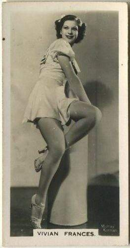 Vivian Frances 1939 Carreras Film & Stage Beauties Tobacco Card #13