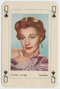Vivien Leigh Vintage 1950s Maple Leaf Playing Card of Film Star