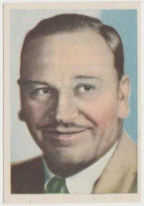 Wallace Beery 1930s Editorial Bruguera Cinefoto Paper Stock Trading Card #4