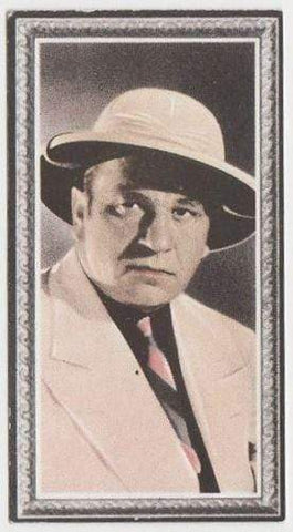 Wallace Beery 1936 Godfrey Phillips Stars of the Screen Tobacco Card #32