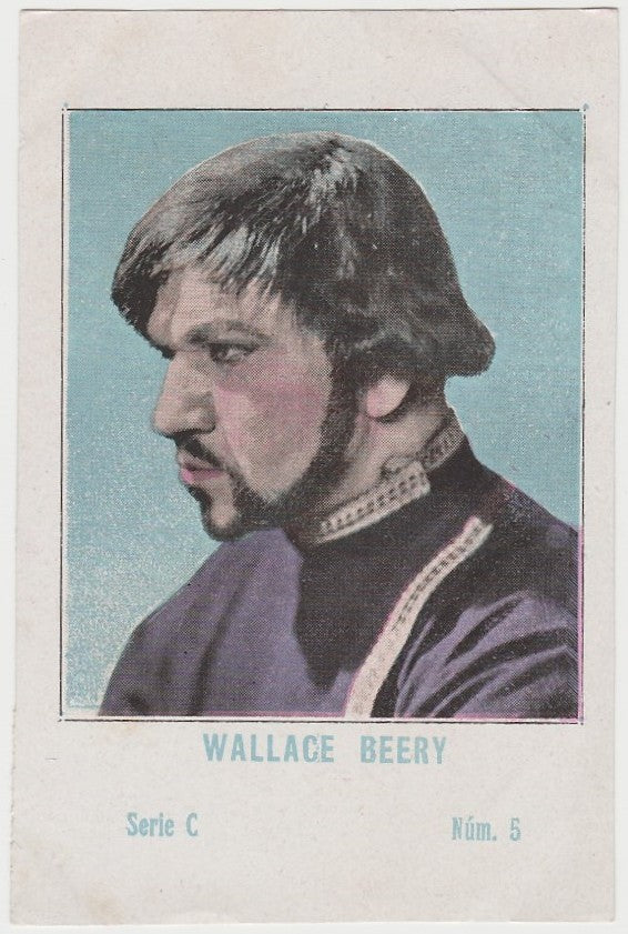 Wallace Beery 1920s Juncosa PAPER STOCK Trading Card #C-5