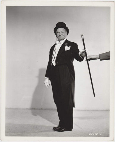 Wallace Beery tuxedo walking stick on Date Stamped 1947 8x10 DBL WT STILL PHOTO