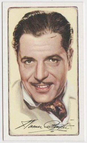 Warner Baxter 1935 GALLAHER Signed Portraits of Famous Stars Tobacco Card #24