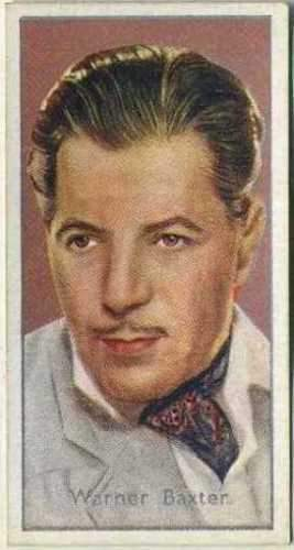 Warner Baxter 1936 Carreras Film Stars by Desmond Tobacco Card #43