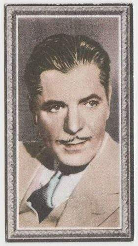 Warner Baxter 1936 Godfrey Phillips Stars of the Screen Tobacco Card #44