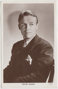 Wayne Morris 1938 Transogram Movie Millions Game Card - Film Star