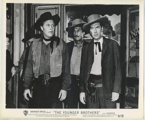 Wayne Morris + Robert Hutton 1949 8x10 Still Photo THE YOUNGER BROTHERS 704-316