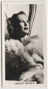 Wendy Barrie 1930s Aguila Large Paper Stock Trading Card #298