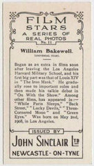 William Bakewell 1937 John Sinclair Film Stars Tobacco Card #11