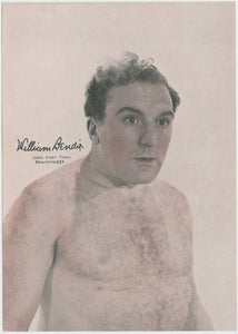 William Bendix 1940s Paper Stock Trading Card - Film Frame Design