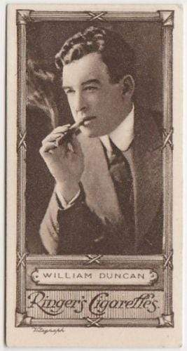 William Duncan 1923 Edwards Ringer and Bigg Cinema Stars Tobacco Card #16