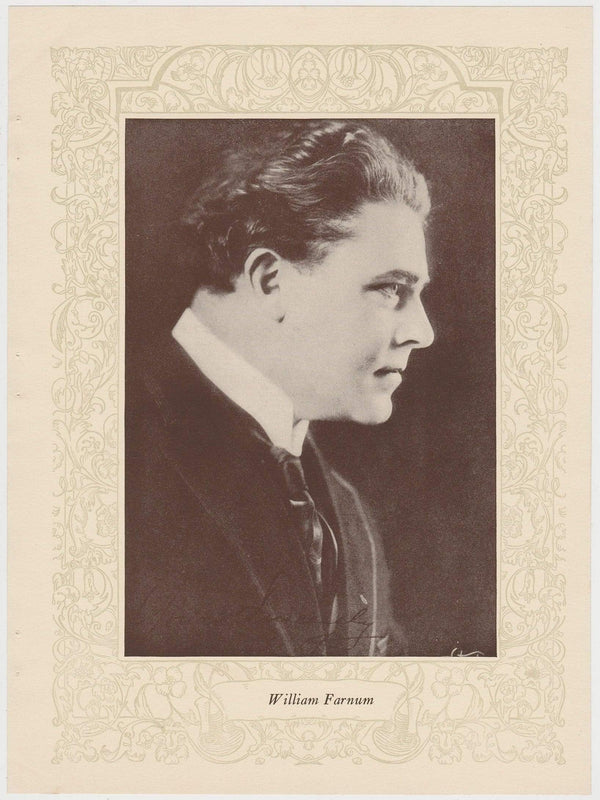 William Farnum 1923 MPDA Popular Film Folk 8 X 10.75 Printed Photo of Film Star