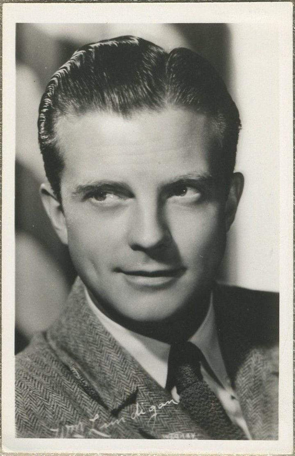 William Lundigan 1940s EKC Real Photo Postcard - RPPC of Movie Star