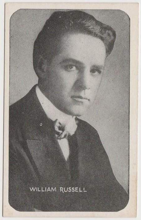 William Russell Vintage 1910s Kromo Gravure Trading Card - Rounded Border Type