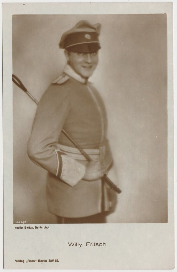Willy Fritsch 1920s Ross Verlag Real Photo Postcard - RPPC 1824/2