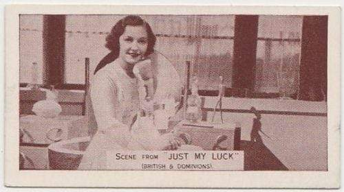 Winifred Shotter 1935 Ardath SCENES FROM BIG FILMS Tobacco Card #56 JUST MY LUCK