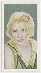 Wynne Gibson 1934 Godfrey Phillips Film Favourites Tobacco Card #6
