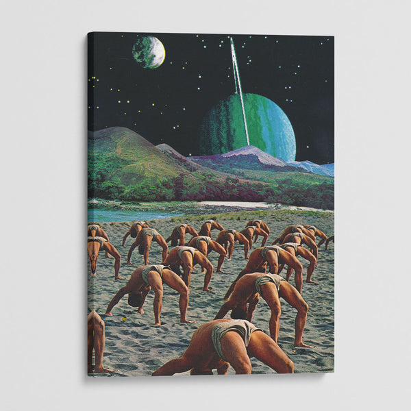 canvas print of yoguis in the space