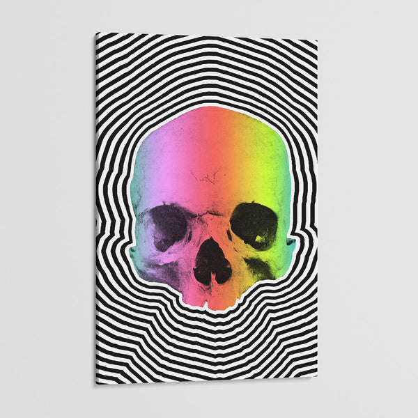 canvas print of a skull