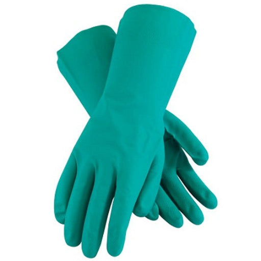 "13"" Chemical Resistant Nitrile Gloves - 11 Mil, Size Large"