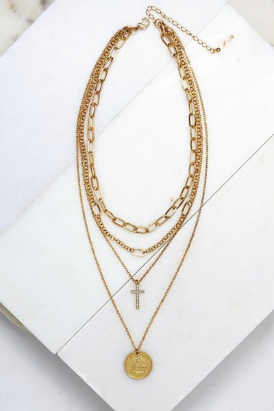 Gold Layered Necklace | Trendy Online Boutique