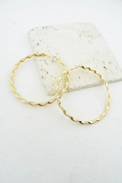 Sweet Love - Gold Hoop Earrings