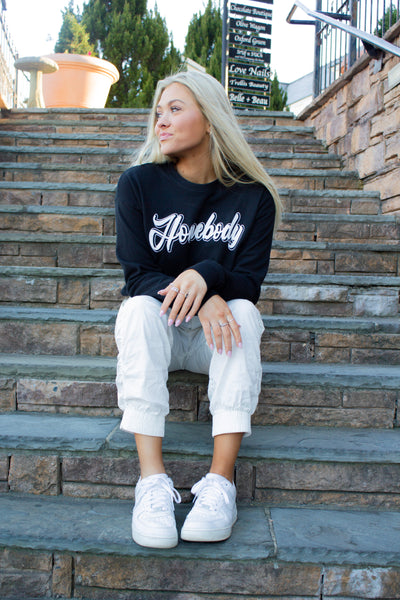 Homebody Black Crewneck