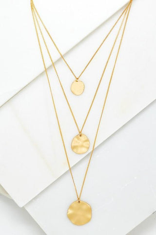 A Moment In Time: Layered Necklace Gold