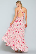 Load image into Gallery viewer, Vacation Floral Print Maxi Dress