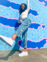 Load image into Gallery viewer, Star Print Denim Taper Jeans-Pants-Willye Leigh Boutique-Willye Leigh Boutique