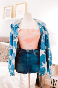 Sky's The Limit: Tie Dye Bodysuit Rose