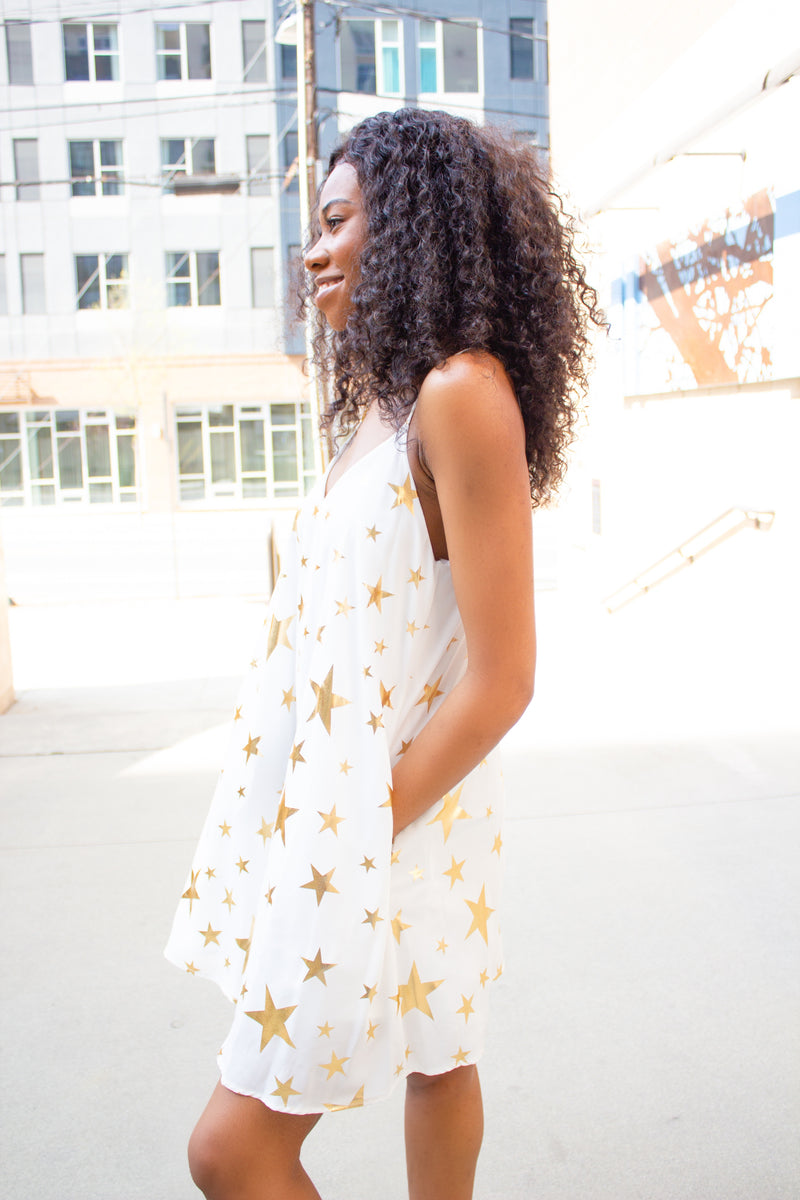 Focused On You: Star Printed Dress