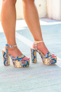 All Your Love: Snakeskin Wedges