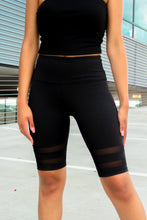 Load image into Gallery viewer, Blurred Lines: Black Biker Shorts