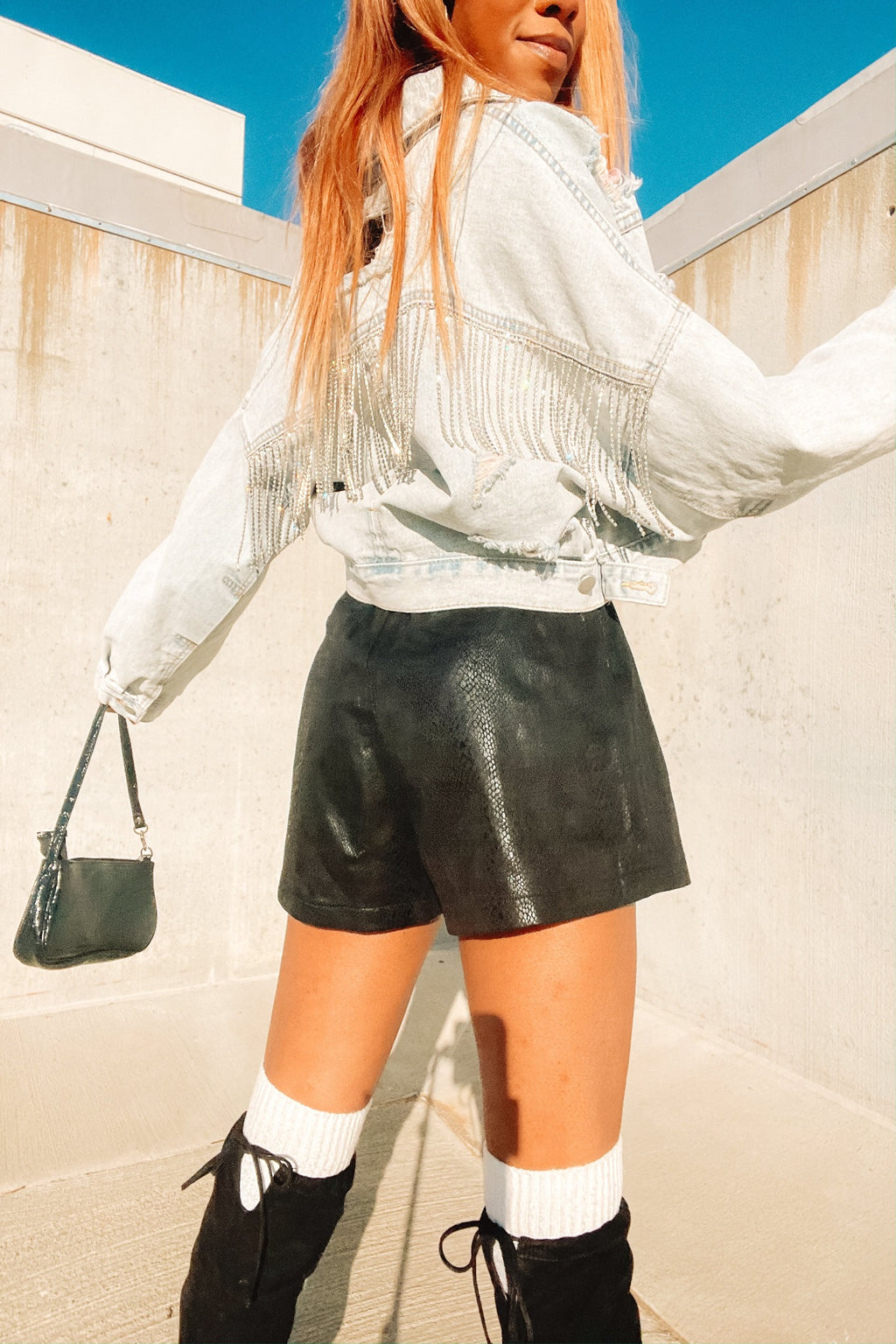 Give Me Your All: Faux Leather Shorts