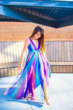 Load image into Gallery viewer, Dreamin' of You - Rainbow Striped Maxi Dress