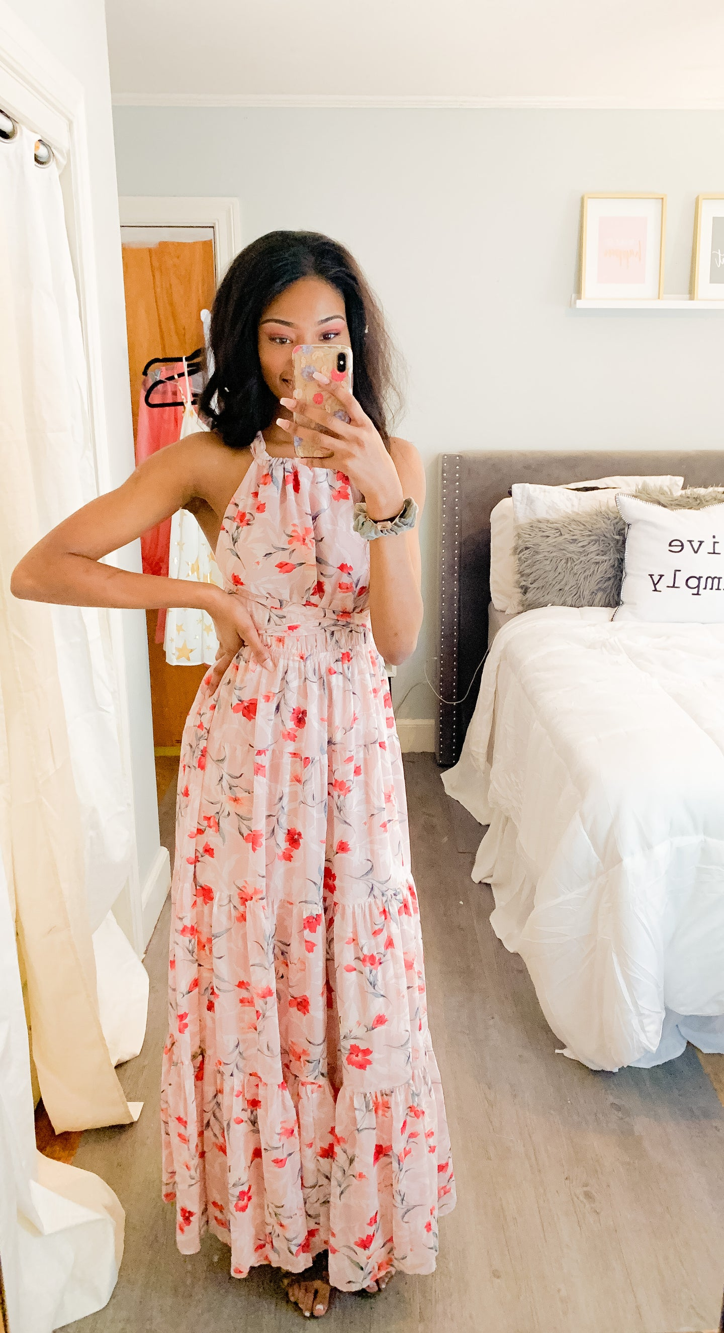 Don't Go Breaking My Heart: Floral Print Maxi Dress