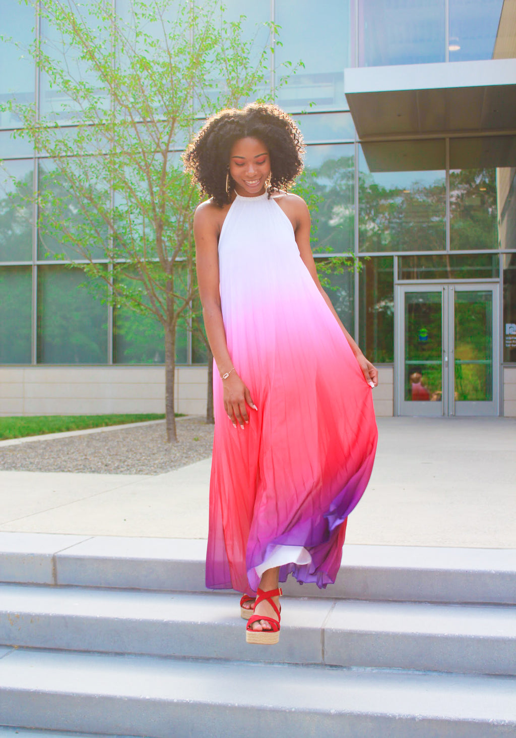 Alexa Ombre Maxi Dress
