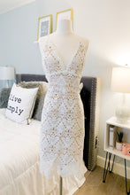 Load image into Gallery viewer, Sweet Harmony: White Lace Dress