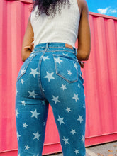 Load image into Gallery viewer, Wild Love: Star Print Bell-Bottom Jeans