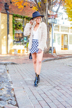 Load image into Gallery viewer, One In A Million - Black & White Plaid Envelope Skort