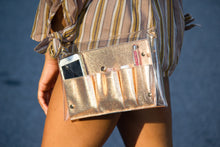 Load image into Gallery viewer, We Want A Touchdown: Clear Crossbody - Rose Gold