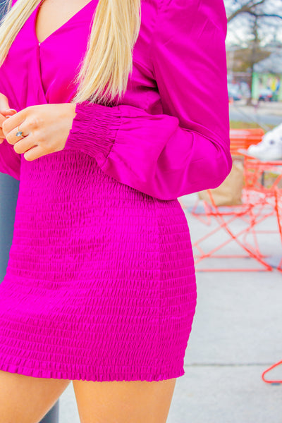 Stealing Our Love - Magenta Dress