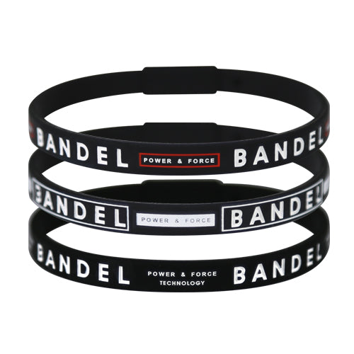 Bandel Line Bracelet 3 Piece Set Black