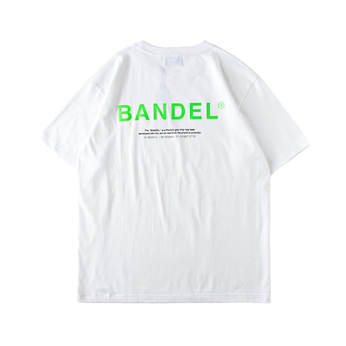 Bandel Collection Line Ghost XL-LOGO Tshirts White/Green