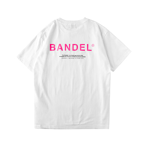 Bandel Collection Line Ghost XL-LOGO Tshirts White/Pink