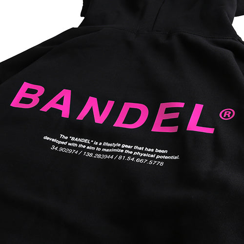 Bandel Collection Line Ghost XL-LOGO Hoodie Black/Pink